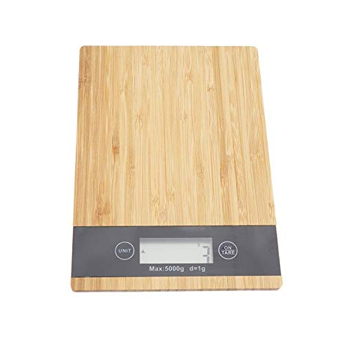 Báscula cocina Báscula Digital Bamboo Wood Grain