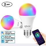 Lampadina Smart Led Wifi Intelligente E27 | Funziona Con Smart Life Google Home Assistant Amazon Alexa IFTTT | Smart Bulb Luce Led RGB 7W Multicolore | Controllo A Distanza Timer Programmabile