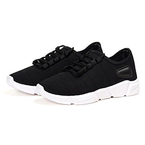 Juleya Hommes Trekking Trainers Noir Sport Sneakers