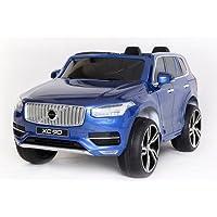 PEQUENENES Coche Eléctrico para Niño Volvo XC90, 2 Plazas, Pintura Metalizada EN Azul,