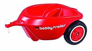 BIG Bobby-Car 56280 - Remolque para coche Bobby-Car, color rojo importado de Alemania