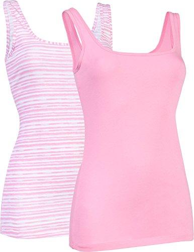 Schiesser Unterhemd 2er-Pack Single-Jersey rosa Größe 46