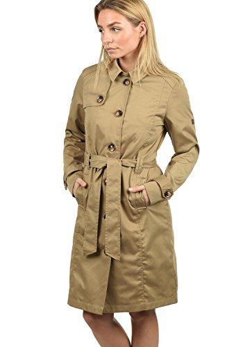 DESIRES Thea Damen Trenchcoat Übergangsmantel Jacke Mit Reverskragen Und Gürtel, Größe:S, Farbe:Sand (4073)