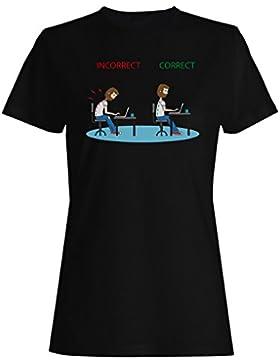 Fisioterapia correctas posturas incorrectas camiseta de las mujeres g388f