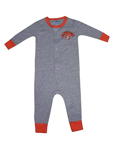 NCAA Oklahoma State Cowboys Unisex - Baby One-Piece Long Sleeve total 12M Grey