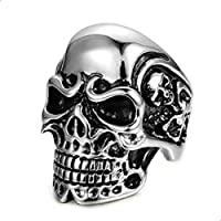 The scary skull ring of strong titanium