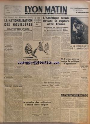 LYON MATIN [No 24] du 02/03/1946 - LE CO...