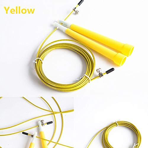 Queta PVC Speed Wire Rope Springseil Spezial Test Springseil Fitness gelb gelb