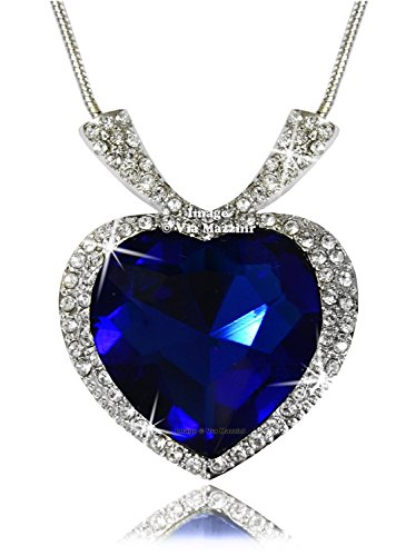 YouBella Jewellery Valentine Collection Crystal Heart Titanic Pendant Necklace Jewellery for Girls/Boys/Men/Women  available at amazon for Rs.399