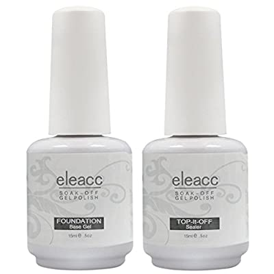 Eleacc Nail Art UV/LED Lamp Gel Polish Gelpolish Base Top Coat Primer Foundation Long-lasting