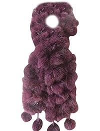 Cinnamou Mode Femmes Foulards D hiver De Fourrure De Lapin Écharpe Casual  Fourrure Écharpes Fourrure 9ab030930f2