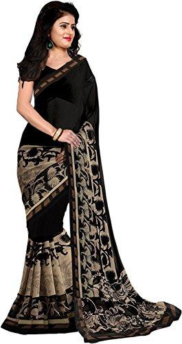 Trendz Cotton Silk Black Saree(TZ_Black_Beauty)