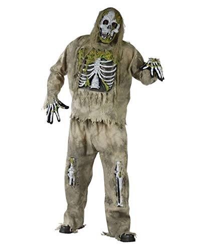 Zombie Skelett Kostüm für Erwachsene - XL-XXL (Skelett Für Erwachsene Kostüm Deluxe)