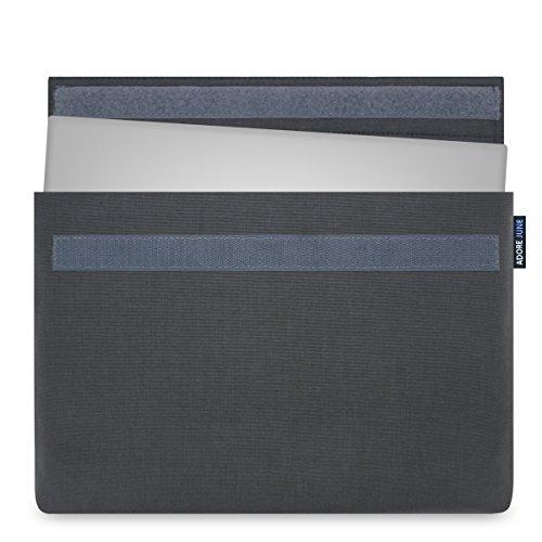 Adore June 15,6 Zoll Hülle Classic Anthrazit für Dell XPS 15 Laptop-Tasche aus Cordura Stoff für Dell XPS 15 Non-Touch & Touch / 2-in-1 2018 2017 2015 (Modelle: Dell XPS 15 9570, 9575, 9560, 9550)