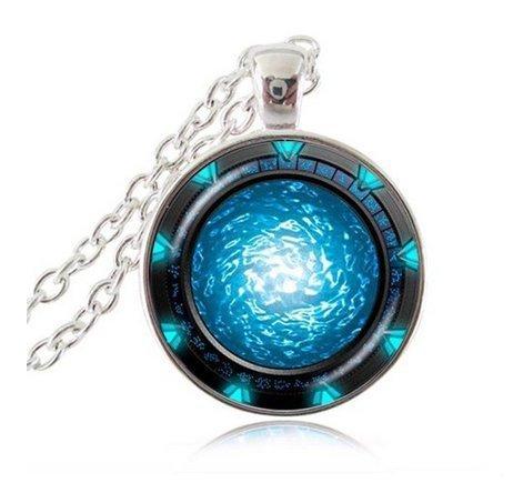 Stargate Portal Atlantis Halskette Star Space Jewelry Universe Halskette handgefertigt Halskette