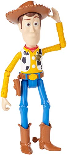 Disney Pixar Toy Story 4 Figurine Articulée Woody, Taille Fidèle au Film pour Rejouer les Scènes du Nouveau Film, Jouet pour Enfant, GGX34