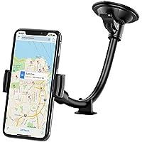 Mpow Grip Supporto Cellulare Auto Universale Flesso per Parabrezza con Supporto da Cruscotto, Gravitazione Potente, Porta per iPhone 7/6S/6 plus/6/5s/5c/5,Samsung Galaxy S5/S4/S3/Note 4/3/2, Google Nexus 5/4, Huawei P9, HTC e GPS ed altri Smartphone
