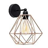 Vintage Metall Draht Käfig Lampenschirm Wandlampe Deckleuchte - Modern Industrielle DIY Zubehör Schatten Lampe Stehlampe Wandleuchte Hängeleuchten Pendelleuchten für Küchen Schlafzimmer,Kupfer