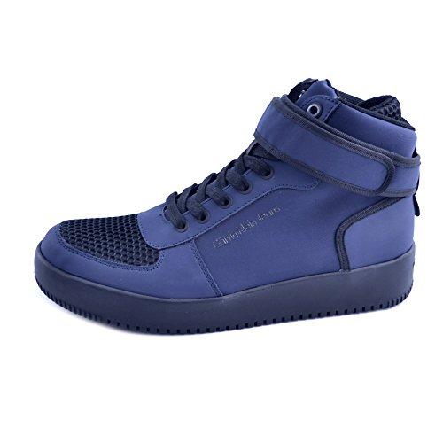 Calvin Klein Chaussures À Lacets Homme en Daim Bleu, Taille 45
