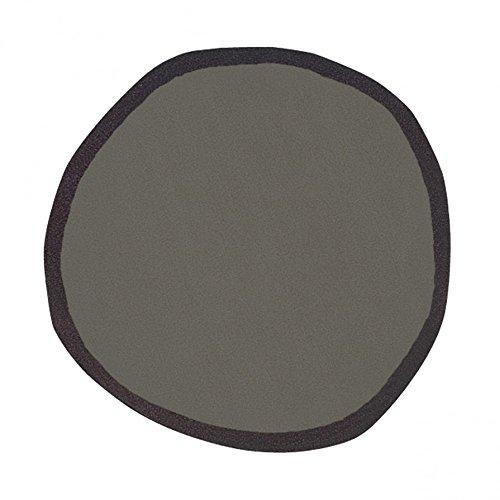 Aros Round Teppich ø 200 cm - grau/schwarz