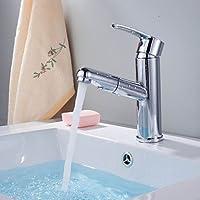 Contemporary Fine Chrome Pull Out singola maniglia rubinetto lavandino del bagno