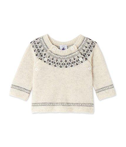 Petit Bateau Unisex Baby Pull Pullover, Mehrfarbig (Lait 7), 80 (Herstellergröße: 12m/74cm) - Unisex Alpaka-wolle Pullover