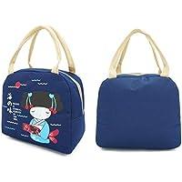 Preisvergleich für Yudanwin Leinwand-Lunch-Tasche Kreative Verdickung Isolierung wasserdicht Oxford Tuch Student Lunch Bag (dunkelblau)