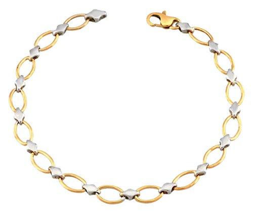 Orleo - REF5013BB : Bracelet Femme Or 18K bicolore