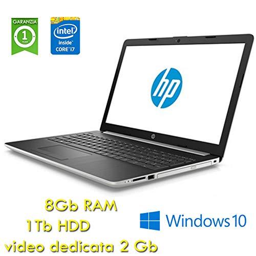 HP 15-da0087nl Argento Computer portatile 39,6 cm (15.6in) 1920 x 1080 Pixel 1,80 GHz Intel® CoreTM i7 di ottava generazione i7-8550U (Ricondizionato)