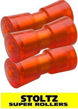 3 Stück STOLTZ Super Rollers RP-8 mit Metallkern