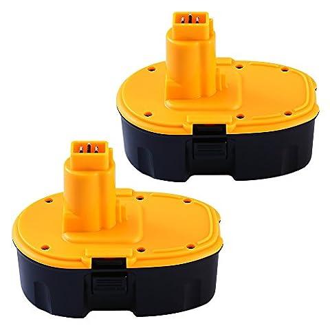 2 Pack 18v 3Ah NIMH Battery Replacement for Dewalt Power Tools DC9096,DW9096,DE9095, DE9096,DE9098,DW9095,CE