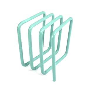 Block Steel Letter Rack, Aqua Blue