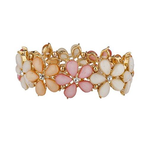 lux-accessories-shades-of-pink-flower-stretch-bracelet