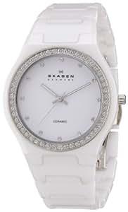 Skagen Damen-Armbanduhr Analog Quarz Keramik 813LXWC