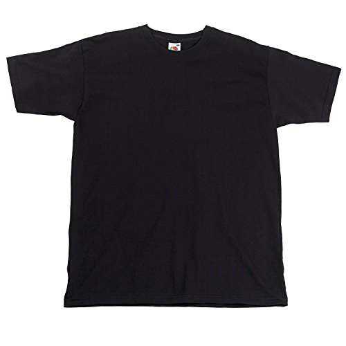 Fruit of the LoomHerren T-Shirt Schwarz - Black*