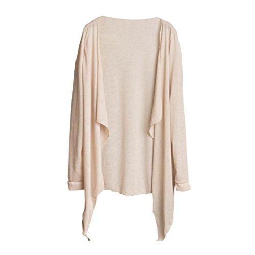Transer Damen Sommer Langarm T-Shirt Schal Kap Bluse Lang Dünn Sonnenschutz Tops M
