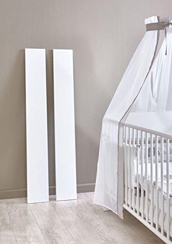 Umbauseiten für Babybett der Möbelserie KIM in Weiß (Umbauseiten KIM)