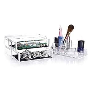 Homfa organizzatore trucco acrilico scatola organizer - Porta gioielli fatti in casa ...