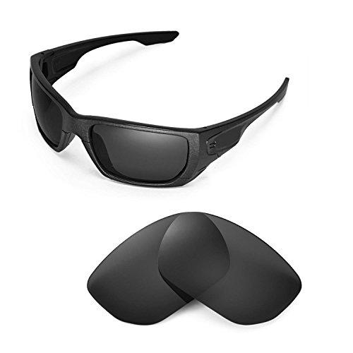 Walleva Ersatzgläser für Oakley Style Switch Sonnenbrille - Mehrfache Optionen (Schwarz - polarisiert)