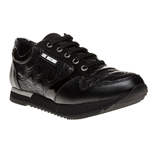 Love Moschino Lace Hi Top Donna Sneaker Nero