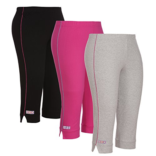 OCEAN RACE Girls Stylish Cotton Capris Combo (3/4 Th Pant)-Pack of 3-OCR-176-10-11Yrs