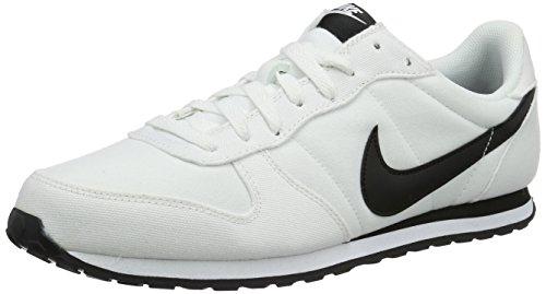 Nike Genicco Canvas- Scarpe sportive Uomo, colore Bianco (Blanco (White / Black-White)), taglia 45.5