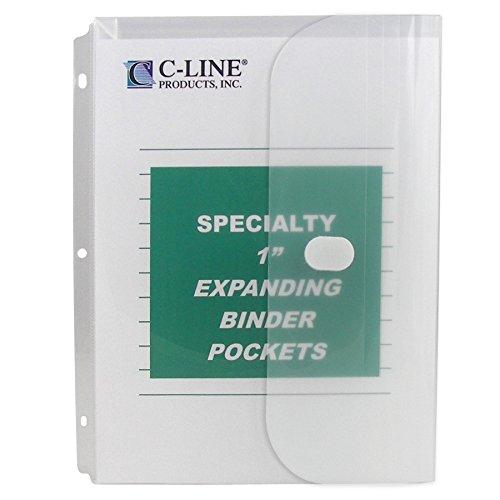 Vorhangschloss C-Line Biologisch abbaubar Binder Tasche mit 2,5cm Zwickel 10-Pack farblos -