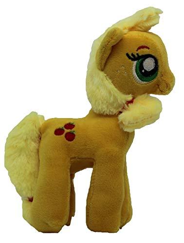 MLP Famosa My Little Pony Pferd 17cm Plüschfigur, Kuscheltier für Kinder, Mädchen und Jungen, zum Sammeln, Kuscheln und Spielen (Apple Jack, orange)