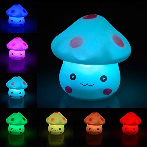 Nachtlicht Des Pilz-Led, Aufladbare Intelligente Nachttischlampe-Noten-Steuerung, Die Für Kinderbaby-Schlafzimmer, Geburtstagsgeschenke, Weihnachtsperfekte Geschenke Dimmbar Ist