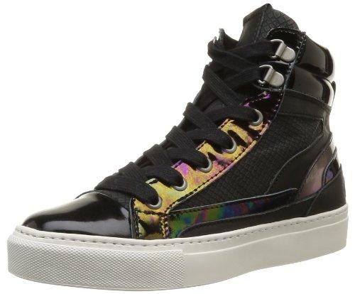 Bronx  Bkytex,  Sneaker donna Nero (Noir (Multi Black Oil Patent))