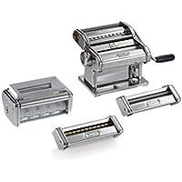 Marcato Multipast Máquina para Pasta Manual, Acero Cromado, Plata, 20 x 20.7 x 15.5 cm