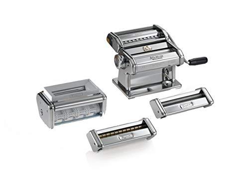 Marcato Multipast Manuelle Nudelmaschine, Chromstahl, Silber, 20 x 20,7 x 15,5 cm