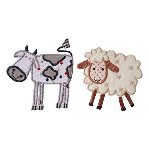 mucca-8cm-pecore-8x7cm-mucca-su-tessuto-bianco-con-intarsi-per-le-macchie-di-colore-grigio-con-ricam