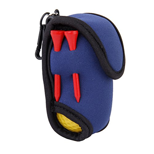 SBR Neopreno Súper Elástico Mini Golf Bolsa De Titular Bola W / Clip De Gancho 2 Bolas 4 Tees Golfistas Regalo